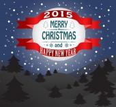 Nytt år och julkort — Stockvektor