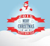 Julkort med snögubbe — Stockvektor