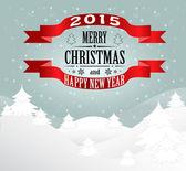 Nieuwjaar en kerstmis kaart — Stockvector