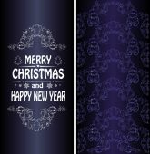 Christmas banner in Victorian style — Stock Vector