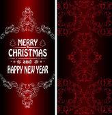 Christmas banner in Victorian style — Vector de stock