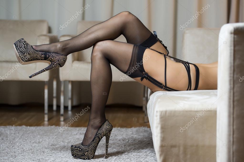 Sexy Garter Belt Legs Stocking Pics 78