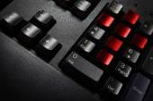 Close up  black keyboard — Stock Photo