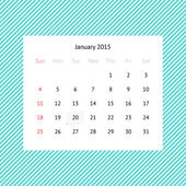Calendar page for January 2015 — Vettoriale Stock