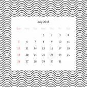 Calendar page for July 2015 — Vector de stock