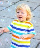 Light-haired kid. — Stock Photo