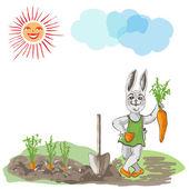 Happy Bunny. — Stock Vector
