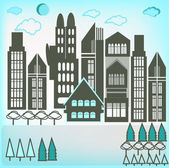 City buildings. — Stock Vector