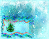 Winter background and fir-tree. — Stock Photo
