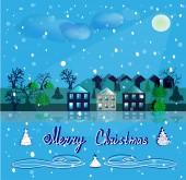 Night for Christmas. — Stock Vector