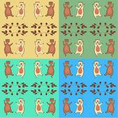 The dancing bear cubs. — Stock Photo