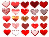 Set of hearts. — Stock Photo