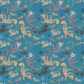 Seamless pattern with cheerful cats. — Foto Stock