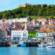 View over Scarborough South Bay harbor in North Yorskire, England — Stock Photo #53884381