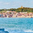 View over Scarborough South Bay harbor in North Yorskire, England — Stock Photo #53884455