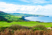 Scenic View over of Robin Hoods Bay in Ravenscar, North Yorkshire, England — Stock Photo