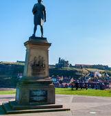 John Cook Memorial in Whitby, England. — Stock Photo