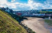 Scenic view of Whitby city in autumn sunny day — Stock Photo