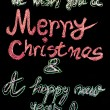 We wish you a Merry Christmas and a happy new year, hand writing with chalk on blackboard, vintage concept — 图库照片 #59638879