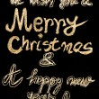 We wish you a Merry Christmas and a happy new year, hand writing with chalk on blackboard, vintage concept — 图库照片 #59638977