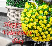 Happy Valentines Day greeting card — Stock Photo