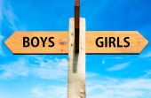 Boys versus Girls messages — Stock Photo