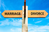 Marriage versus Divorce messages, Divorce concept — Stock Photo