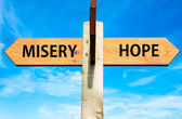 Misery versus Hope — Stock Photo