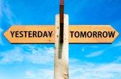 Yesterday versus Tomorrow — Stock Photo