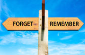 Forget versus Remember — Stock Photo