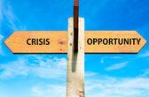 Crisis versus Opportunity — Стоковое фото