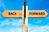 Back versus Forward — Stockfoto