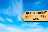 Arrow sign with Black Friday message — Φωτογραφία Αρχείου