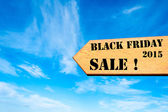 Arrow sign with Black Friday 2015 Sale message — Φωτογραφία Αρχείου