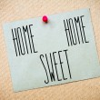 Home Sweet Home Message — Stock Photo #67298223