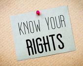 Know Your Rights Message — Stock Photo