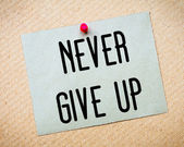Never Give Up Message — Stock Photo