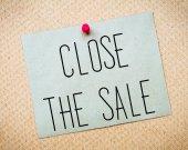 Close the Sale Message — Stock Photo