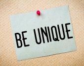 Be Unique Message — Stok fotoğraf