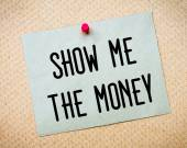 Show me the money Message — Stock Photo