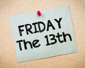 Friday the13th Message — Stock Photo
