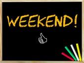 Week-end messaggio e come segno — Foto Stock