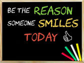 Be the reason someone smiles today and Like sign — Φωτογραφία Αρχείου