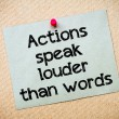 Actions speak louder than words — Stock Photo #68730919