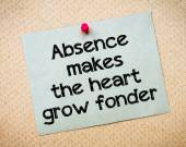 Absence makes the heart grow fonder — Stock Photo