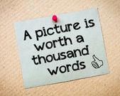 Obraz stojí za tisíc slov — Stock fotografie