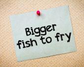 Bigger fish to fry — Fotografia Stock