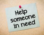 Ajudar alguém em necessidade — Fotografia Stock