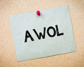 AWOL - Absent Without Official Leave — Stock Photo