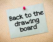 Back to the drawing board — Stock Photo
